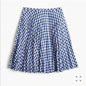 Blue & White gingham J Crew skirt